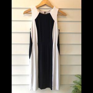 Ann Taylor black and white sheath dress size 4